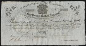 Jersey P. A1c 5 Pounds (1840) (2/1)