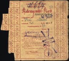 Judaika / Judaica Getto Litzmannstadt Nahrungsmittel-Karte (3)