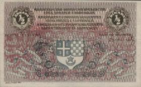 Jugoslawien / Yugoslavia P.011 1/2 Dinar (1919) (1)
