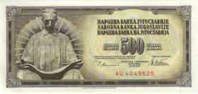 Jugoslawien / Yugoslavia P.091a 500 Dinara 1978 (1)