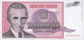 Jugoslawien / Yugoslavia P.127 10.000.000.000 Dinara 1993 (1)