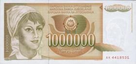 Jugoslawien / Yugoslavia P.099 1.000.000 Dinara 1989 (1)