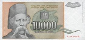 Jugoslawien / Yugoslavia P.129 10000 Dinara 1993 (1)