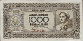Jugoslawien / Yugoslavia P.067b 1000 Dinara 1946 (2+)