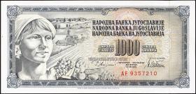 Jugoslawien / Yugoslavia P.092a 1000 Dinara 1978 (1)