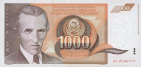 Jugoslawien / Yugoslavia P.107 1000 Dinara 1990 (1)