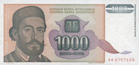 Jugoslawien / Yugoslavia P.140 1000 Dinara 1994 (1)