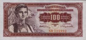 Jugoslawien / Yugoslavia P.069 100 Dinara 1955 (1)