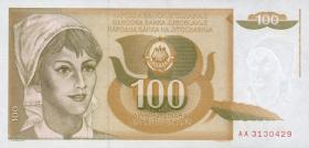 Jugoslawien / Yugoslavia P.105 100 Dinara 1990 (1)