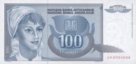 Jugoslawien / Yugoslavia P.112 100 Dinara 1992 (1)