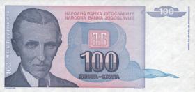 Jugoslawien / Yugoslavia P.139 100 Dinara 1994 (1)