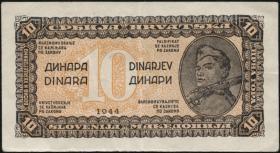 Jugoslawien / Yugoslavia P.050c 10 Dinara 1944 (2)