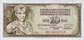 Jugoslawien / Yugoslavia P.087a 10 Dinara 1978 (1)