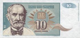 Jugoslawien / Yugoslavia P.138 10 Dinara 1994 (1)