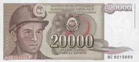Jugoslawien / Yugoslavia P.095 20000 Dinara 1987 (1)
