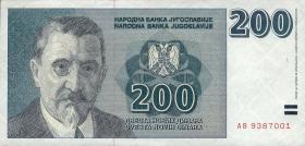 Jugoslawien / Yugoslavia P.152A 200 Dinara 1999 (1)