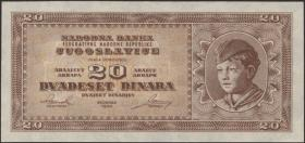 Jugoslawien / Yugoslavia P.067T 20 Dinara 1950 (1)