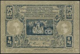Jugoslawien / Yugoslavia P.013 25 Para = 1/4 Dinar 1921 (2)