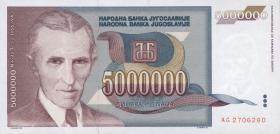 Jugoslawien / Yugoslavia P.121 5.000.000 Dinara 1993 (1)