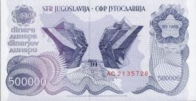 Jugoslawien / Yugoslavia P.098 500.000 Dinara 1989 (1)