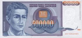 Jugoslawien / Yugoslavia P.119 500.000 Dinara 1993 (1)