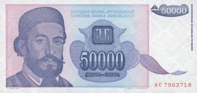 Jugoslawien / Yugoslavia P.130 50000 Dinara 1993 (1)