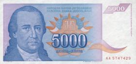 Jugoslawien / Yugoslavia P.141 5000 Dinara 1994 (1)