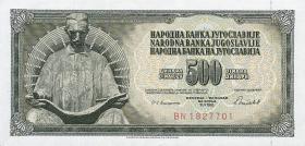 Jugoslawien / Yugoslavia P.091b 500 Dinara 1981 (1)