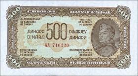 Jugoslawien / Yugoslavia P.054 500 Dinara 1944 (1)