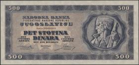 Jugoslawien / Yugoslavia P.067W 500 Dinara 1950 (1)
