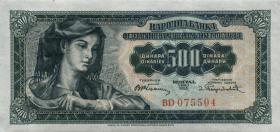 Jugoslawien / Yugoslavia P.070 500 Dinara 1955 (1)