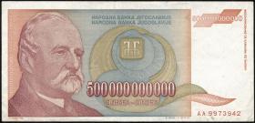 Jugoslawien / Yugoslavia P.137 500.000.000.000 Dinara 1993 (2-)