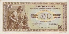 Jugoslawien / Yugoslavia P.064a 50 Dinara 1946 (1)
