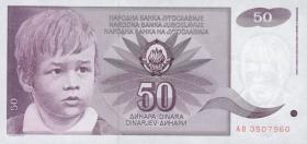 Jugoslawien / Yugoslavia P.104 50 Dinara 1990 (1)