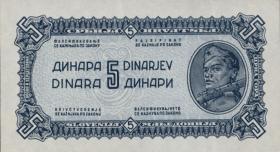 Jugoslawien / Yugoslavia P.049a 5 Dinara 1944 (1)