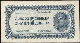 Jugoslawien / Yugoslavia P.049b 5 Dinara 1944 (2)