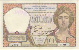 Jugoslawien / Yugoslavia P.025 10 Dinara 1926 (2-)