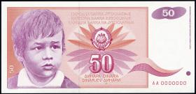 Jugoslawien / Yugoslavia P.107B 50 Dinara 1991 (1)