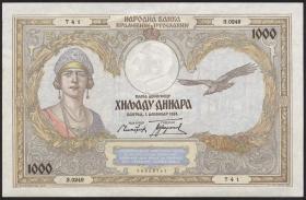 Jugoslawien / Yugoslavia P.029 1.000 Dinara 1931 (1/1-)