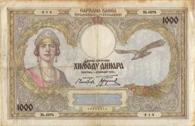 Jugoslawien / Yugoslavia P.029 1.000 Dinara 1931 (3)