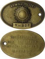 DDR Original Dienstmarke der Kriminalpolizei Nr. 5 Brandenburg