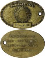 DDR Original Dienstmarke der Kriminalpolizei Nr. 6 Mecklenburg-Schwerin