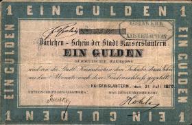 A-576 Kaiserslautern 1 Gulden 1870 (3-)