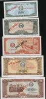 Kambodscha / Cambodia P.25-29s 0,10 - 5 Riels 1979 Specimen (1/1-)