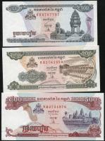 Kambodscha / Cambodia P.41-43 100 - 500 Riels 1998 (1) Set 3 Werte