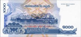 Kambodscha / Cambodia P.58b 1000 Riels 2007 (2015) (1)