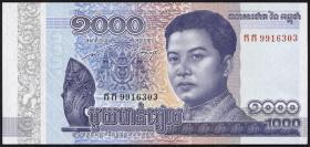 Kambodscha / Cambodia P.neu 1000 Riels 2016 (1)