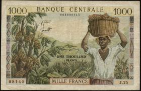 Kamerun / Cameroun P.12 1000 Francs (1962) (3)