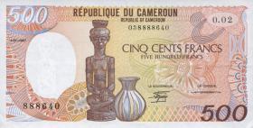 Kamerun / Cameroun P.24a 500 Francs 1985-88 (1)