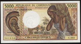 Kamerun / Cameroun P.22b 5000 Francs (1990) (1)